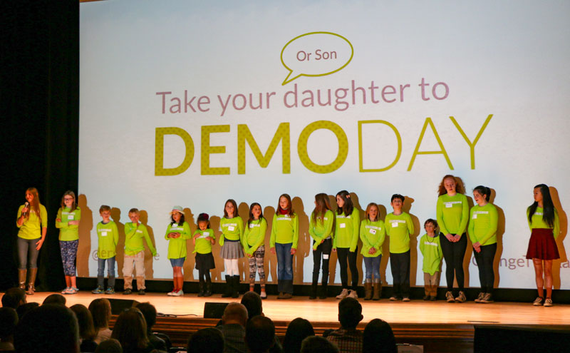 "MergeLane's ""Take Your Daughter (or Son) to Demo Day."""