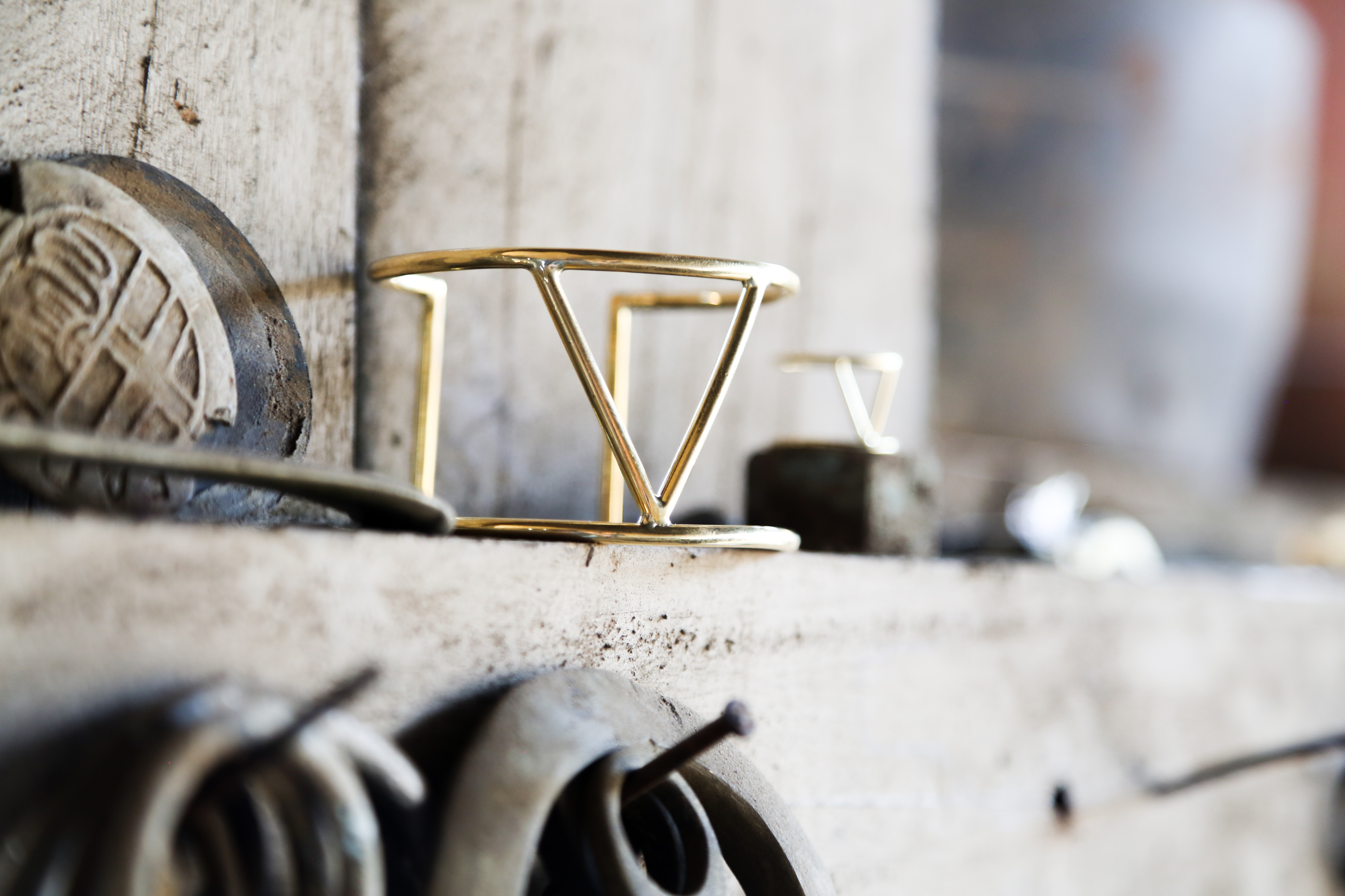 A bracelet created by Soko artisans in partnership with Pencils of Promise