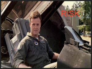 Ron in an F-16, Germany 1988