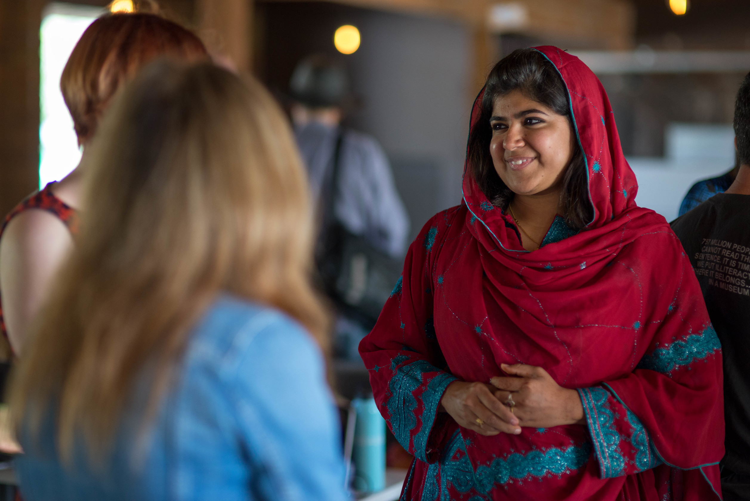Khalida on her work as a Pakistani women's rights activist // Photo by Caitlin Kleiboer