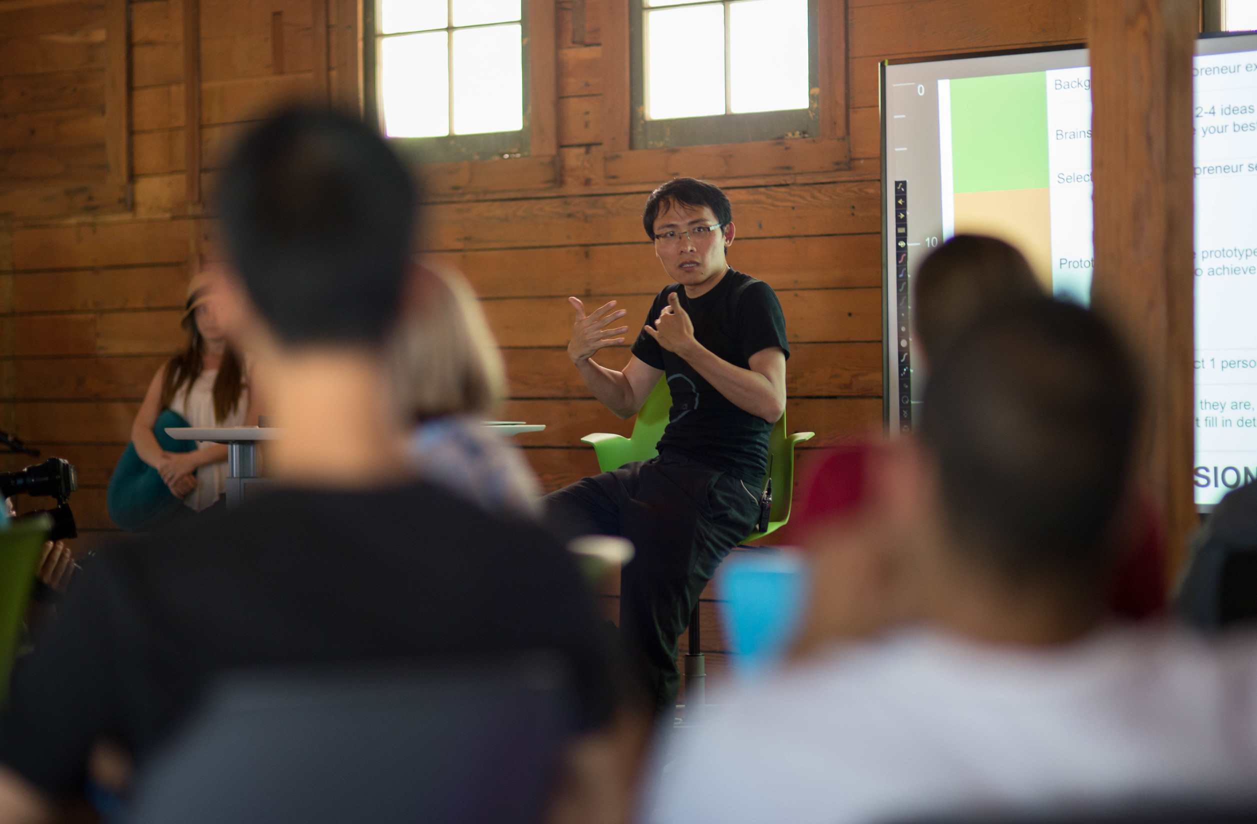 Tom Chi leading a rapid prototyping workshop // Photo by Caitlin Kleiboer